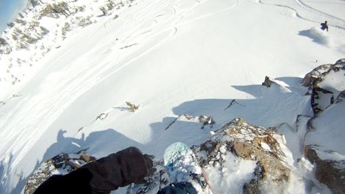 Putting the DC T Rice boots to the test at Mammoth